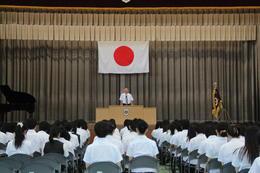 第一学期終業式・全国大会壮行会を行ないました