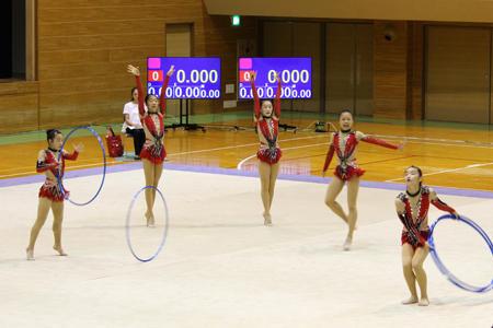 奈良県新体操選手権に出場しました