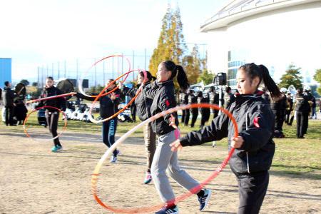 新体操部が奈良学園大マーチングバンドに参加させて頂きました!