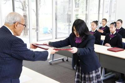 「学校法人奈良学園栄誉賞」表彰式を行いました