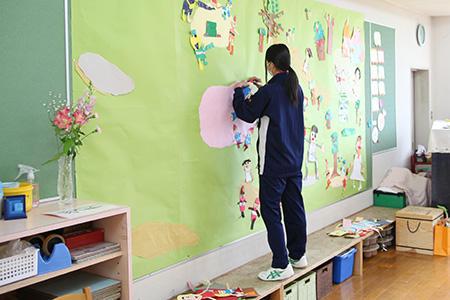 奈良文化幼稚園で幼稚園実習を行ないました!