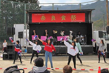 吹奏楽部ダンス部が奈良食祭2018に参加しました!