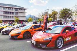 奈良文化高校にスーパーカーが大集合!