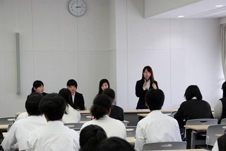 「わかば集会~卒業生からのメッセージ~」を開催しました