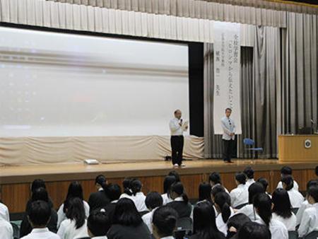 全校学習会で『ヒロシマから伝えたいこと』を学びました