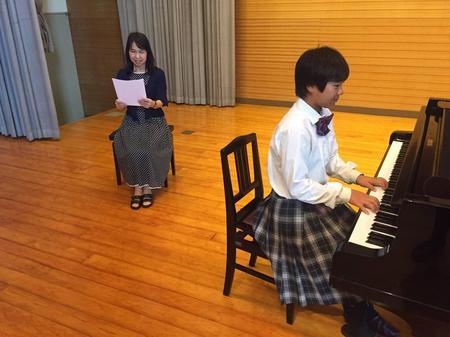 2年子ども教育コース 連弾と弾き謡の発表会を行いました