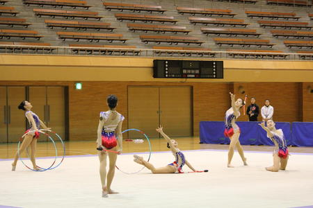 新体操新人選手権大会に出場しました