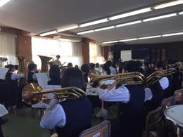 奈良県高等学校総合文化祭 吹奏楽部門の発表に向けて、最後の合同練習に参加しました