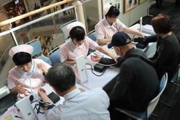 看護科の生徒が奈良県産業教育フェアに参加しました