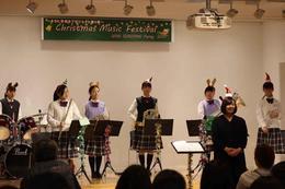吹奏楽部が「Christmas Music Festival」で演奏をしました