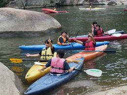 【スポーツ特進コース】カヌーの実習を行いました