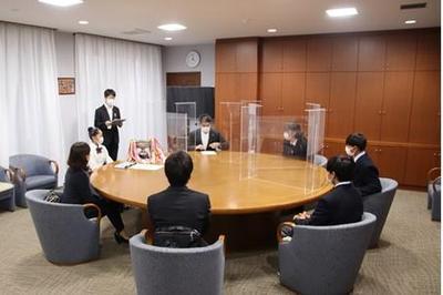 奈良市長を表敬訪問しました
